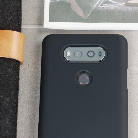 olixar flexishield lg v20 gel case solid black