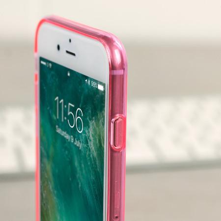 Olixar FlexiShield iPhone 8 / 7 Gel Case - Pink