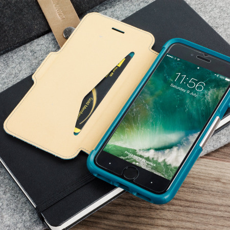 on sale d0b92 c499d OtterBox Strada Series iPhone 8 / 7 Leather Case - Pacific Blue Teal