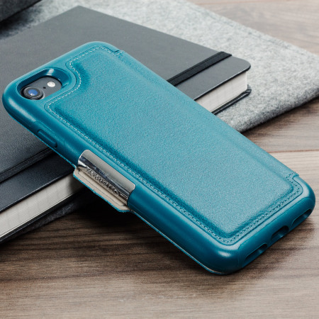 on sale 988f8 edba1 OtterBox Strada Series iPhone 8 / 7 Leather Case - Pacific Blue Teal