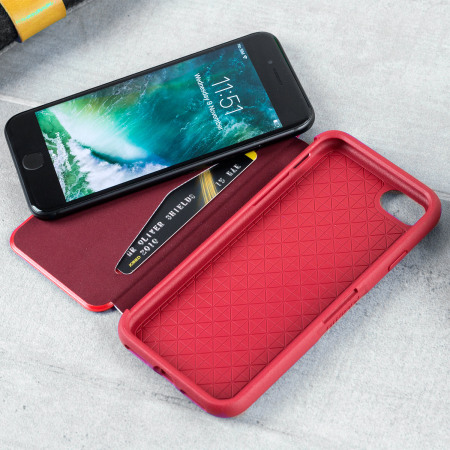 low cost 39528 3993e OtterBox Symmetry iPhone 8 / 7 Folio Wallet Case - Red