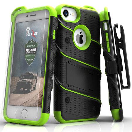 lost, zizo bolt series iphone 7 tough case belt clip black green issues