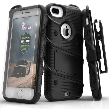 Zizo Bolt Series Iphone 7 Plus Tough Case Amp Belt Clip Black