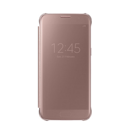 best service b810e 376c4 Official Samsung Galaxy S7 Clear View Cover Case - Rose Gold