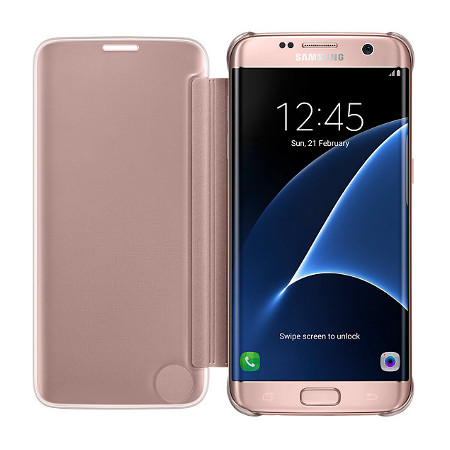 brand new 0f269 bb76d Official Samsung Galaxy S7 Edge Clear View Cover Case - Rose Gold