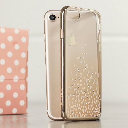 hot sale online 55703 e2924 Unique Polka 360 Case iPhone 8 Case - Champagne Gold / Clear