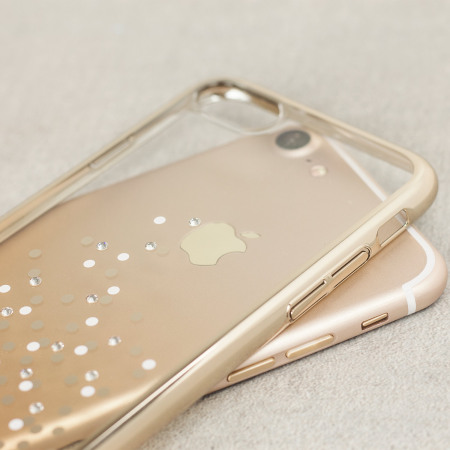 Unique Polka 360 Case iPhone 8 / 7 Case - Champagne Gold