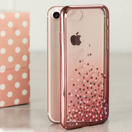 Unique Polka 360 Case iPhone 8 / 7 Case - Rose Gold