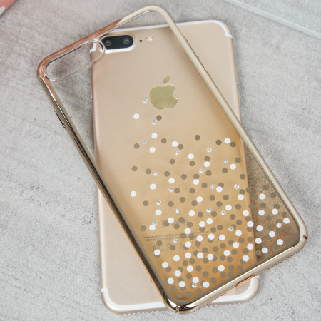 dc721005f6e Unique Polka 360 iPhone 7 Plus Case - Champagne Gold - Mobile Fun ...