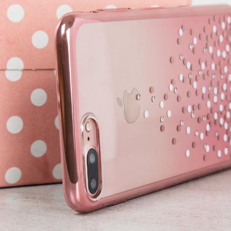 Unique Polka 360 iPhone 8 Plus / 7 Plus Case - Rose Gold