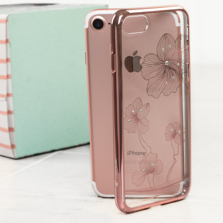 regards crystal flora 360 iphone 7 case rose gold apple makes