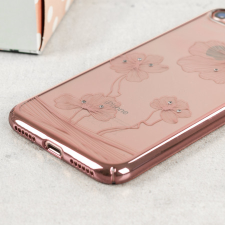 should for crystal flora 360 iphone 7 case rose gold March 15