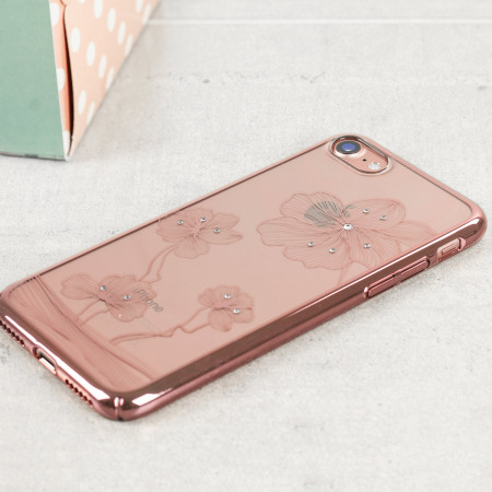 grand specifications crystal flora 360 iphone 7 case rose gold