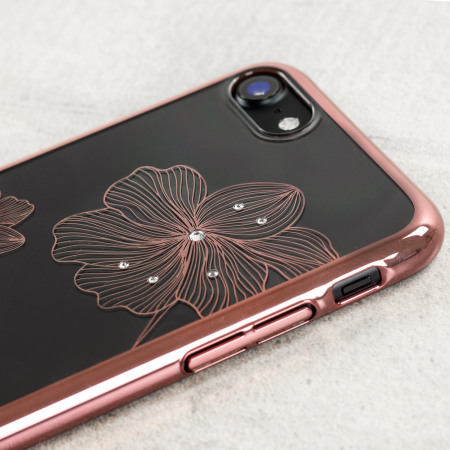 last few crystal flora 360 iphone 7 case rose gold also