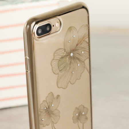 Crystal Flora 360 iPhone 7 Plus Case - Champagne Gold