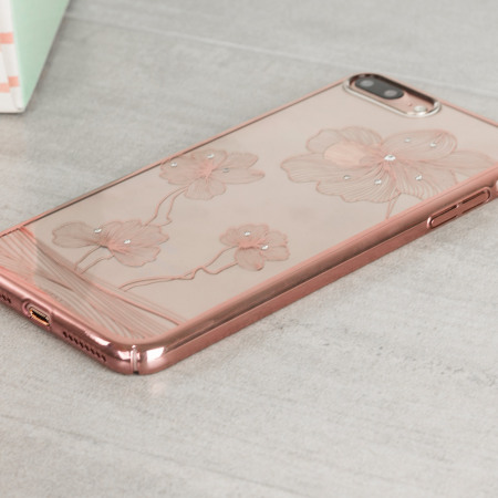 iphone 7 plus rose gold. crystal flora 360 iphone 7 plus case - rose gold iphone e