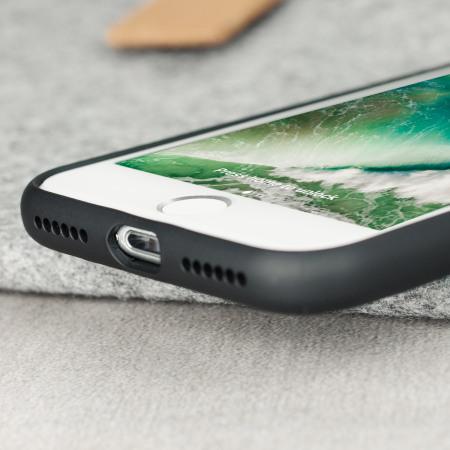 CROCO2 Genuine Leather iPhone 7 Case - Black
