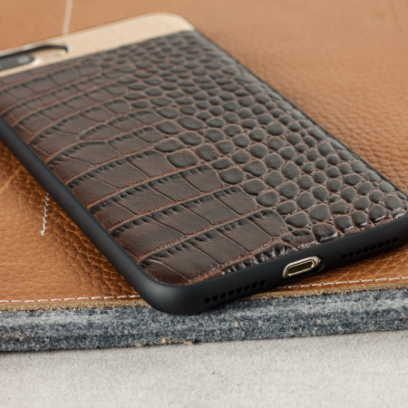 croco2 genuine leather iphone 7 plus case brown wish when
