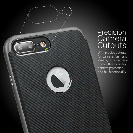 olixar x duo iphone 7 plus case carbon fibre metallic grey selling new products