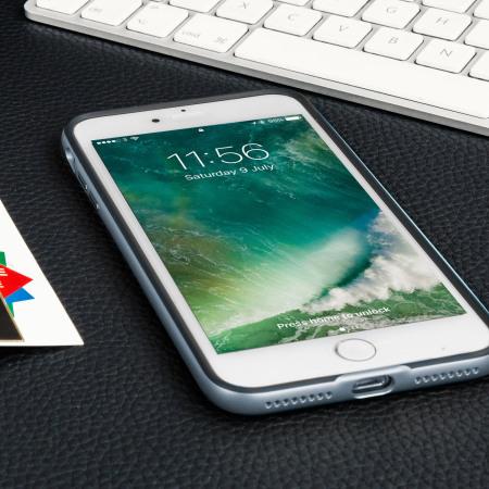 olixar x duo iphone 7 plus case carbon fibre metallic grey