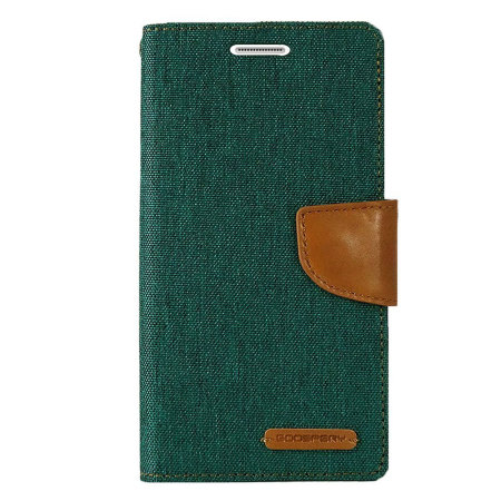 mercury canvas diary samsung galaxy s6 wallet case green/camel you find 5-inch
