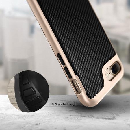 Caseology Envoy Series iPhone 7 Plus Case - Carbon Fibre Black