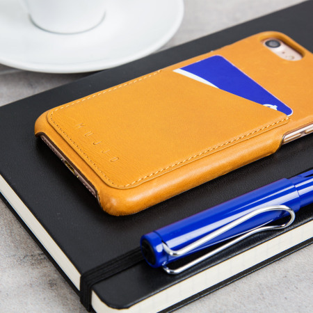 Mujjo Leather-Style iPhone 7 Wallet Case - Tan