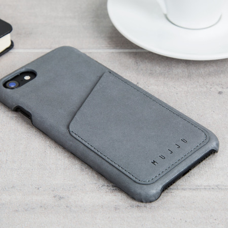 sports shoes eddad 0bd77 Mujjo Leather-Style iPhone 7 Wallet Case - Grey