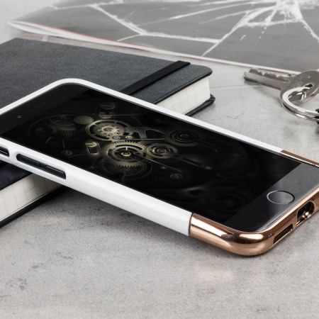 Incipio Edge Chrome iPhone 8 / 7 Case - White Opal / Chrome Rose Gold