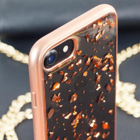 Prodigee Scene Treasure iPhone 7 Case - Rose Gold Sparkle f0cb6f496
