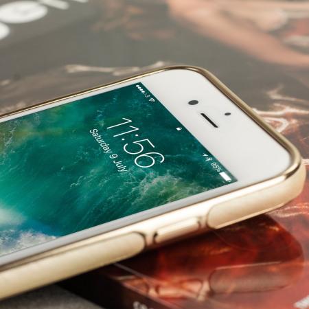 Olixar Makamae Leather-Style iPhone 7 Case - Gold