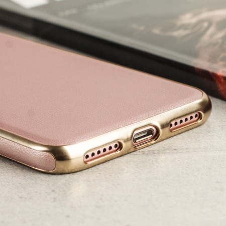 iphone 7 rose gold case leather