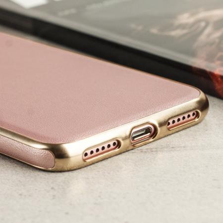 olixar flexileather iphone 8 7 h lle in rose gold. Black Bedroom Furniture Sets. Home Design Ideas