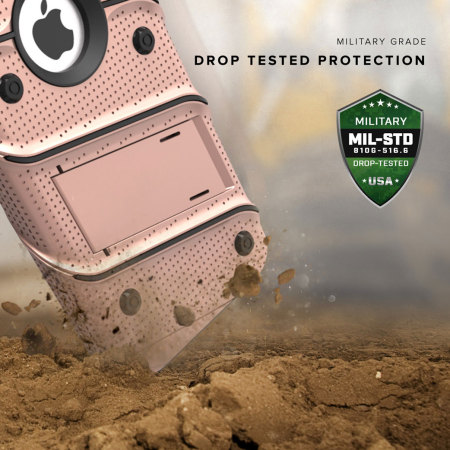 Zizo Bolt Series iPhone 8 / 7 Tough Case & Belt Clip - Rose Gold