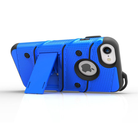 Zizo Bolt Series iPhone 8 / 7 Tough Case & Belt Clip - Blue / Black