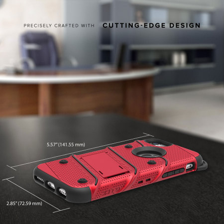Zizo Bolt Series iPhone 7 Tough Case & Belt Clip - Rood / Zwart