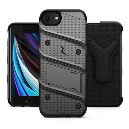 Zizo Bolt Series iPhone 7 Tough Case & Belt Clip - Grey / Black