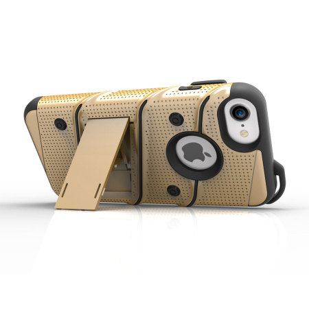 Zizo Bolt Series iPhone 8 / 7 Tough Case & Belt Clip - Gold / Black