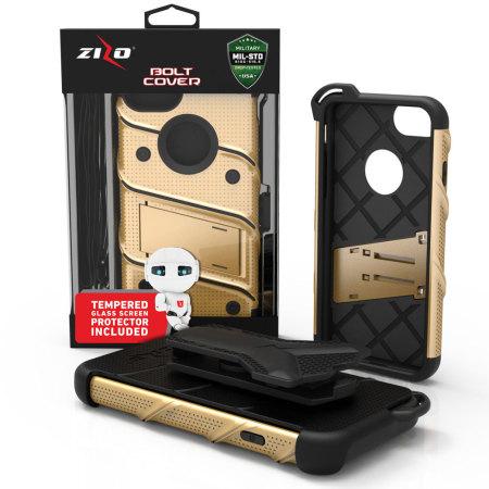 possible zizo bolt series iphone 7 tough case belt clip gold black way brainwash