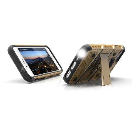 zizo bolt series iphone 7 tough case belt clip gold black can make exchange