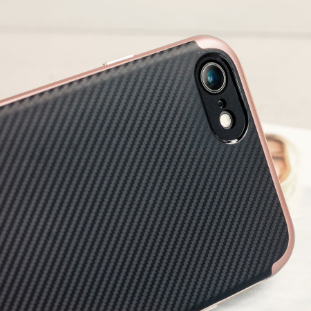 added the olixar x duo iphone 7 case carbon fibre rose gold policydoa