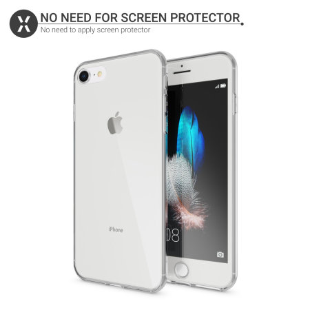 Coque iPhone 8 / 7 Olixar FlexiCover Protection Totale - Transparente