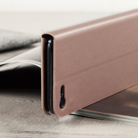 Olixar Leather-Style iPhone 7 Wallet Stand Case - Rose Gold