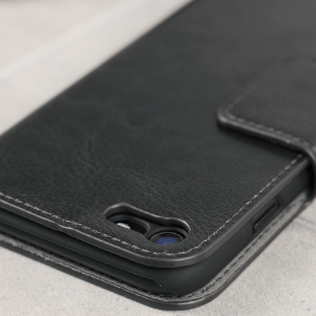 Olixar Leather-Style iPhone 8 Plånboksfodral - Svart
