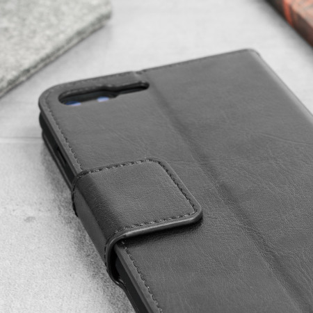 Olixar iPhone 8 Plus / 7 Plus Tasche Wallet Case in Schwarz