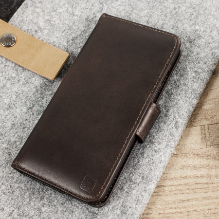 Olixar Genuine Leather iPhone 8 / 7 Wallet Case - Brown