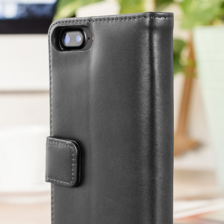 Olixar Genuine Leather iPhone 7 Plus Wallet Case - Black