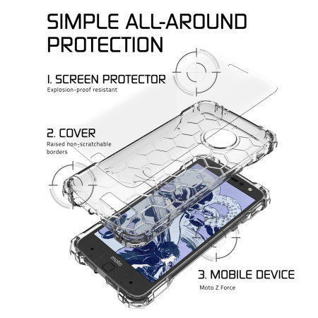 heart ghostek covert motorola moto z force bumper case clear 1 Lumia 2520