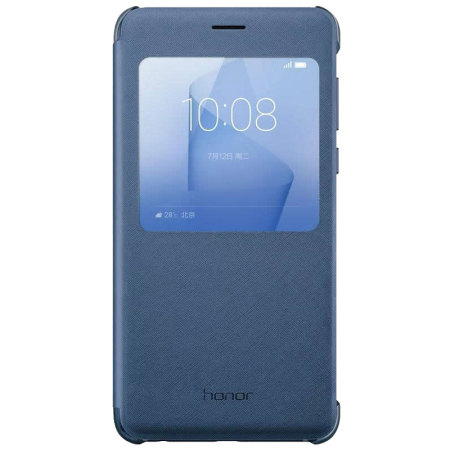 Housse officielle huawei honor 8 flip view bleue for Housse honor 8