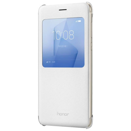 Housse officielle huawei honor 8 flip view blanche for Housse honor 8